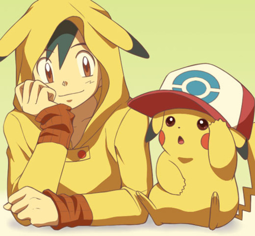 pokémon wallpaper probably with animê called Ash and pikachu // Fanart