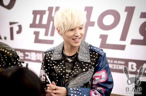 B.A.P first fan signing event