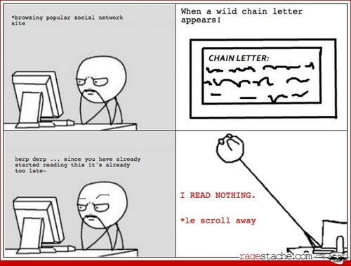 Chain letters.