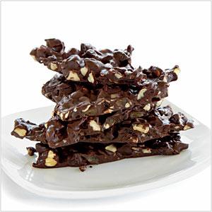 cokelat Hazelnut Bark