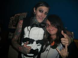 Chris Motionless with his fans