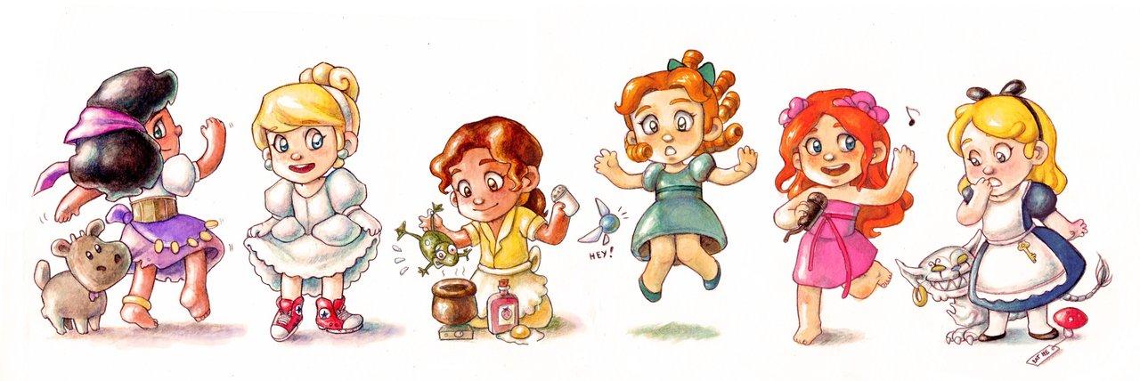 All disney princesses as babies