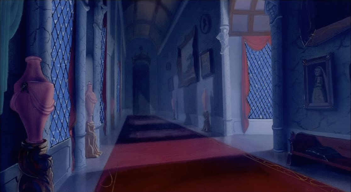 Empty Backdrop From Beauty And The Beast Disney