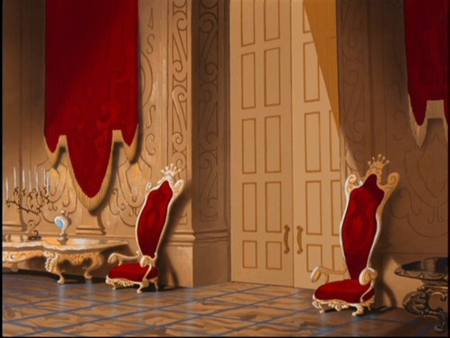 disney crossover fondo de pantalla containing a throne, a drawing room, and a living room titled Empty Backdrop from cenicienta
