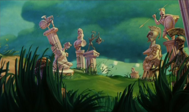 Empty Backdrop From Hercules Disney Crossover Image