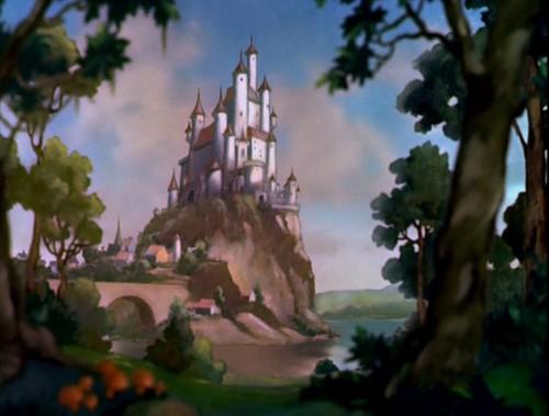 Disney crossover karatasi la kupamba ukuta titled Empty Backdrop from Snow White
