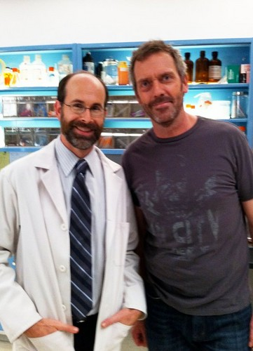 Hugh Laurie and Brian Huskey (Dr. Riggin)- House MD