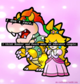 I think Peach and Bowser make an adorable couple - nintendo-villains fan art