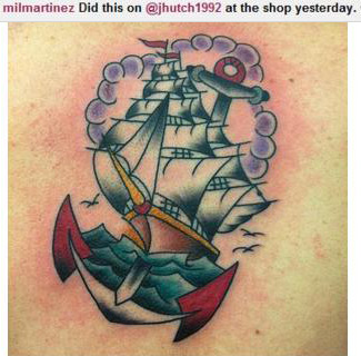 Josh's new tattoo