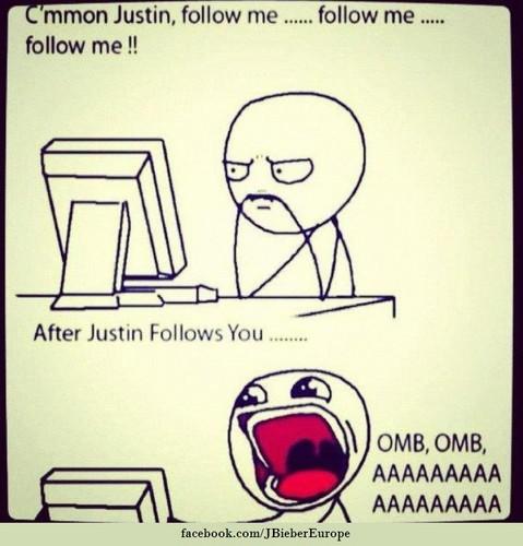 Justin Follow Me :D