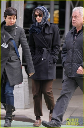 "Justin Timberlake heading to the set of ""Inside Llewyn Davis"""