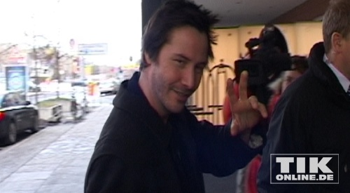 Keanu Reeves arrives at Budapest Airport.( February 15, 2012)
