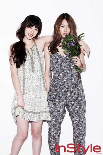 Krystal & Sulli @ InStyle Korea Magazine March 2012 Edition