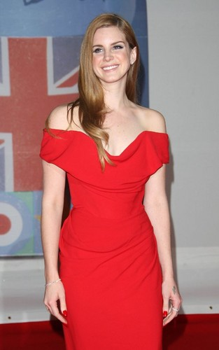 Lana at the 2012 Brit Awards