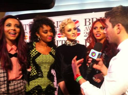 Little Mix at the BRIT Awards 2012.