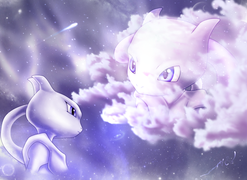 Legendary Pokemon achtergrond called Mewtwo