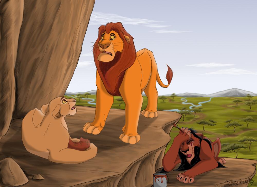 Mufasa,Sarabi.Scar,Simba