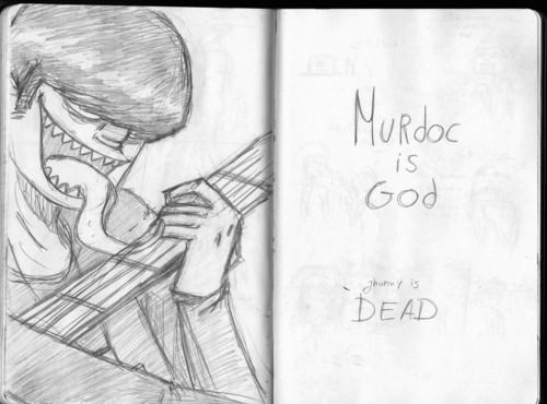 Murdoc drawing