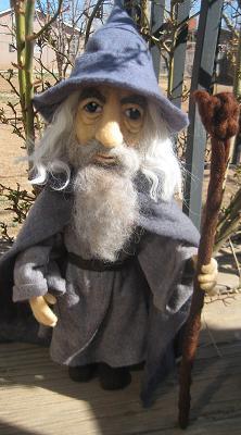 My Needle Felted Gandalf (Sir Ian McKellen)