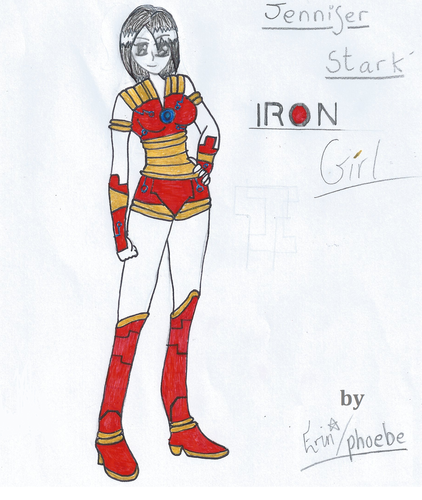 Young Justice OC'S!!! वॉलपेपर probably containing ऐनीमे titled My new OC Iron Girl/Jennifer Stark
