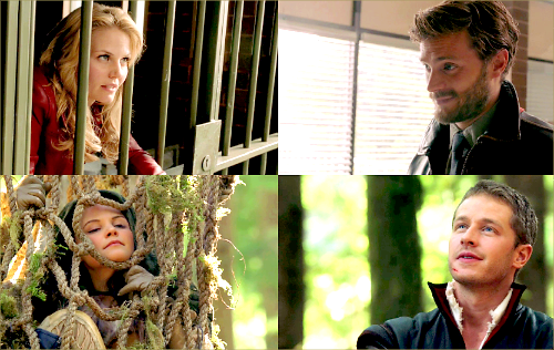 Once Upon A Time wallpaper titled OUAT Parallels: Snow/Charming & Emma/Graham