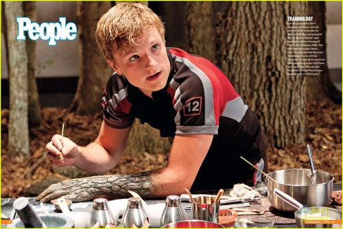 Peeta Mellark and Katniss Everdeen images Peeta's camouflage skills HD wallpaper and background photos