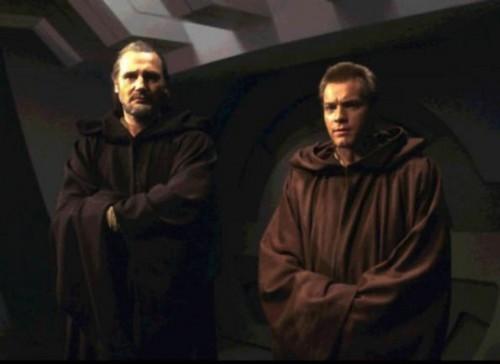 Qui Gon Jinn and Obi Wan Kenobi