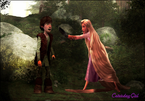 Rapunzel and Hiccup
