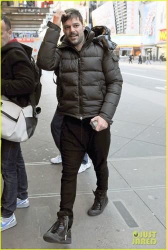 Ricky Martin: 'Evita' Rehearsal!
