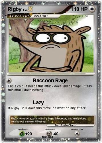 Rigby Pokemon Card