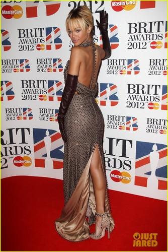 Rihanna - Brit Awards 2012 Red Carpet