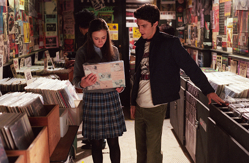 Rory and Jess wallpaper with a newsstand and a bookshop titled Rory and Jess