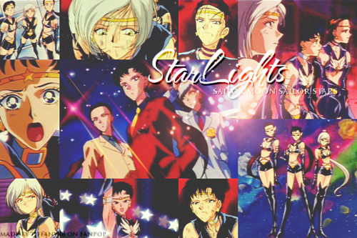 Sailor Moon Sailor Stars karatasi la kupamba ukuta with anime titled Sailor Stars ~ ♥