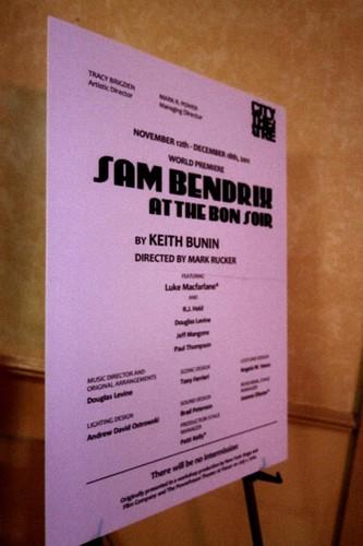 Sam Bendrix at the Bon Soir Opening Night, City Theatre, Pittsburgh, Pennsylvania, November 12th 201