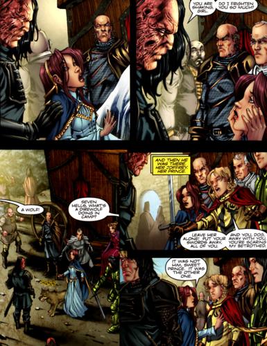 Sandor and Sansa- In the GoT graphic novel