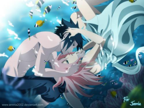 Sasuke and Sakura underwater