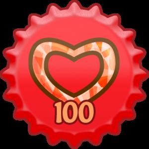 tampilkan cinta 100 topi
