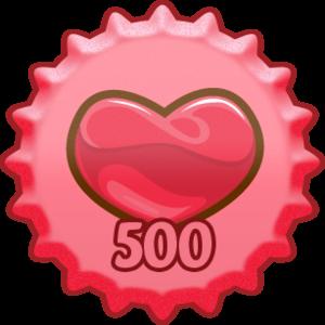 mostrare Amore 500 berretto, tappo