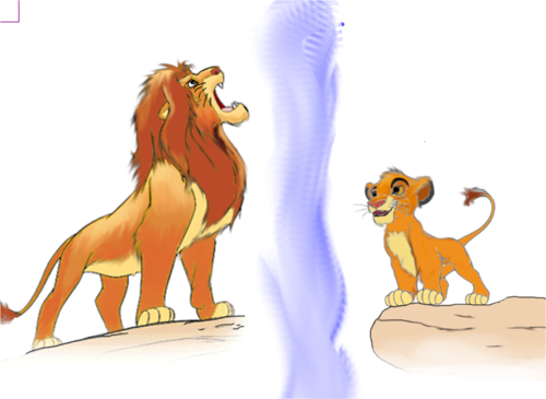 Simba - the-lion-king Fan Art