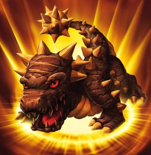 Spyro The Dragon پیپر وال with a triceratops entitled Skylanders: Bash