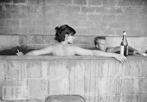 Steve McQueen wallpaper with a hot tub titled Steve and Neile