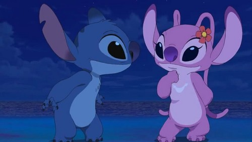 Lilo and Stitch: Angel! wallpaper possibly containing anime called Stitch and Angel