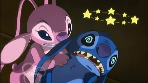 Lilo and Stitch: Angel! wallpaper possibly containing anime entitled Stitch and Angel