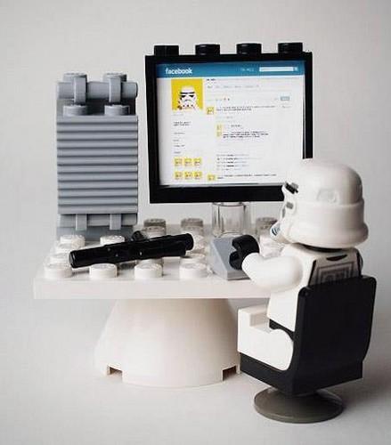 Stormtrooper in Facebook