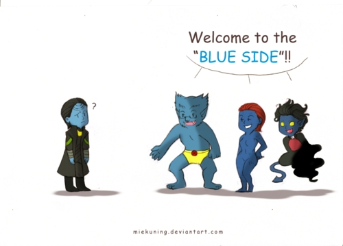 Welcome to the blue side