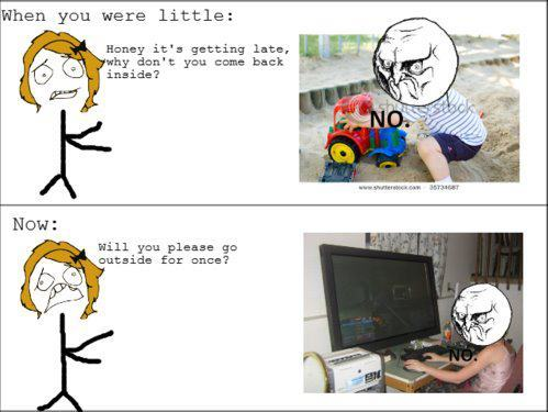 When Ты were little & Now