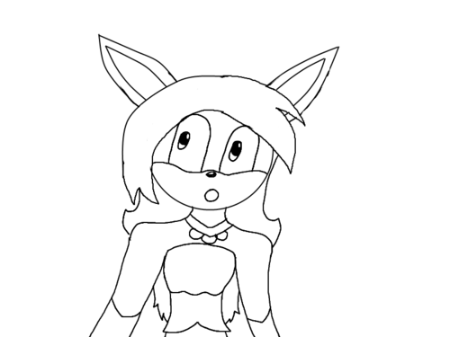 Winry the Bunny Lineart