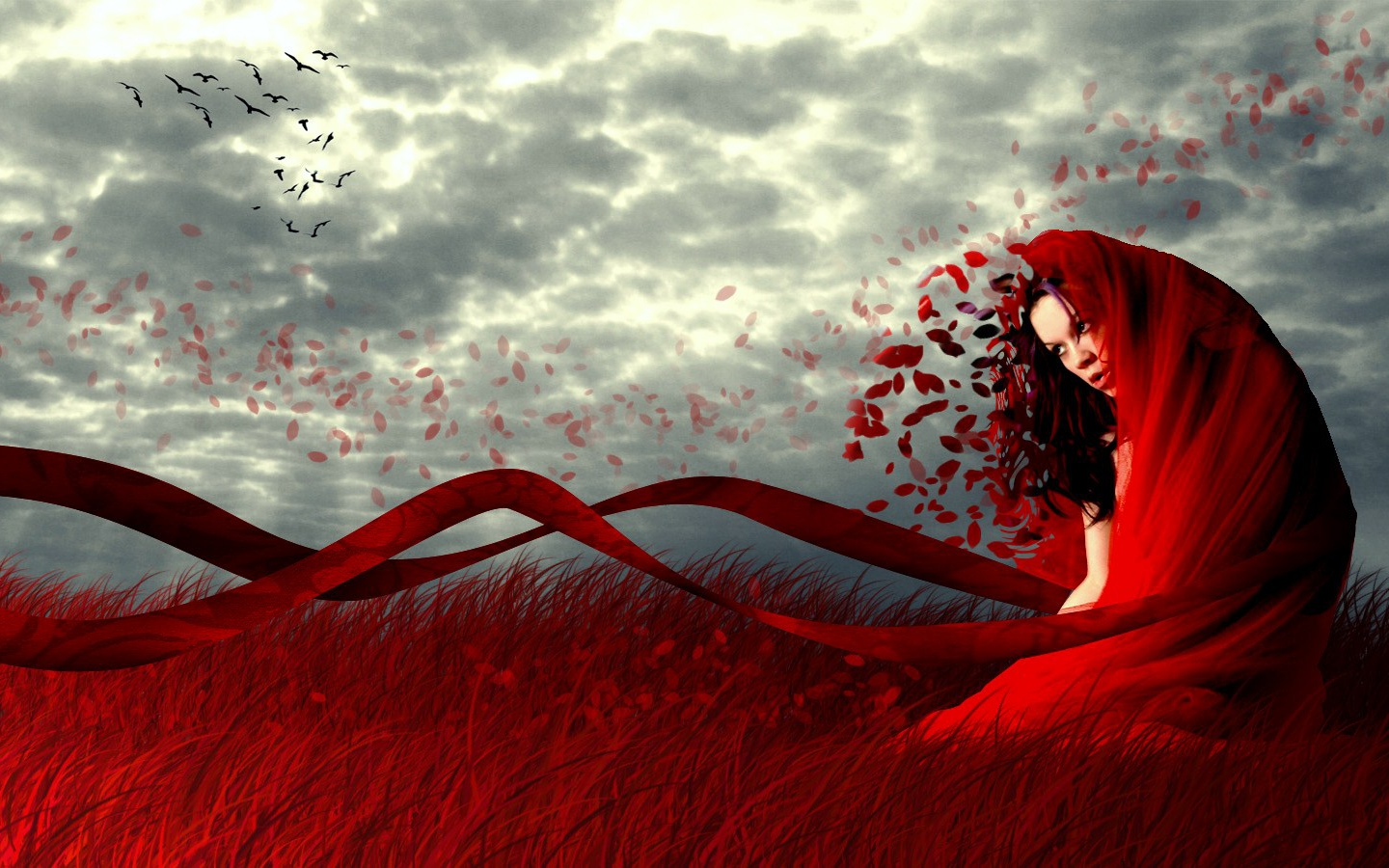 Love Wallpaper Deviantart : Woman in red - Random Wallpaper (29290969) - Fanpop