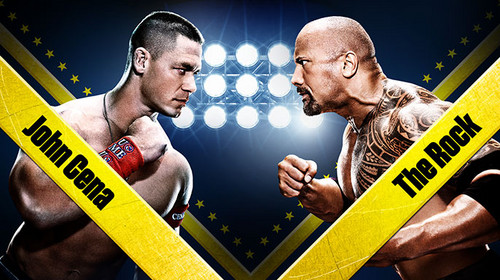 Wrestlemania 28:John Cena vs The Rock