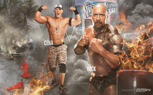 Wrestlemania 28-The Rock vs John Cena